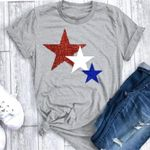 Five Pointed Star Short Sleeve  T Shirt