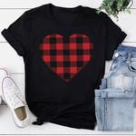 Heart Print Short Sleeve T-Shirt