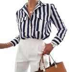 Office Work Wear Strips Striped Blouse