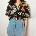 Fashion Floral Short Sleeve Chiffon Casual Blouses