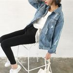 Loose Casual Fashion Turn-down Collar Denim Jacket