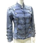 Causal Coat Long Sleeve Slim Short Vintage Denim Jacket