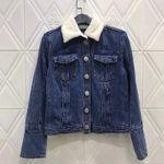 Fur Collar Jacket Vintage Long Sleeve Slim Denim Jacket