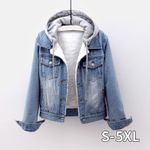 Casual fleece Long Sleeve Denim  jackets