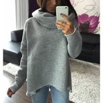 Scarf Collar  Pullovers Fashion Turtleneck Casual Loose Hoodies