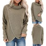 Pullovers Casual Scarf Collar Long Sleeves Sweatshirt