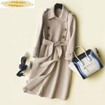 Long Trench Fashion Wool Coat