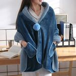 Plush Blanket Thick Soft Throw Scarf Fleece Jacket