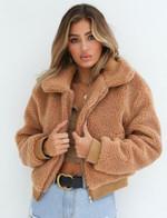 Overcoat Warm  Faux Fur Zip Outdoor Jacket