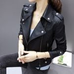Zipper Motorcycle Faux Soft Fashion Leather Jackets