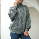 Casual  Pullover long Sleeve Fashion Turtleneck Loose Knitted Sweater