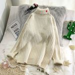flare sleeved elegant pulls knitted sweaters