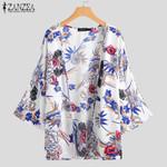 Vintage Floral Printed Fashion Cardigan Kimono