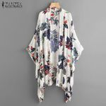 Casual Cover Up Shirts Beach Cardigan Print Kimono