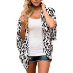 Cardigan Shawl Loose Fashion Leopard Chiffon Kimono
