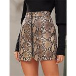 Sexy Zip Faux Leather Fashion High Waist Skirt