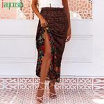Retro Fashion High Waist Casual Floral Long Skirt