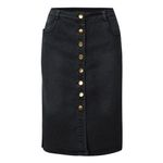 Fashion Button Split Front Open Denim Skirt