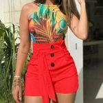 Sexy High Waist Slim Fit Casual Belted  Fashion Wild Shorts