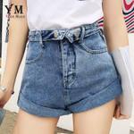 Vintage  Casual Push Up High Waist Denim Shorts
