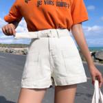 Pockets  High Waist Denim Shorts