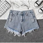 Casual Shorts High Waist  Fashion Loose Cotton Denim Short