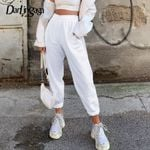 Baggy Trousers Elastic High Waist  Cotton Casual Pants