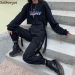 Hip-Hop  Trousers  Loose  Loose High Waist Cargo Pants