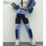 Trousers Hollow Out  Hip Hop  Joggers Patchwork Pants