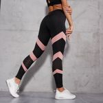 Fashion Mesh Patchwork Hollow Out Push Up Leggings