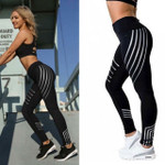 Striped Printing Fitness  Sexy  High Waist Fashion Leggings