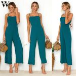 Casual Straps Zipper Holiday Long Jumpsuit