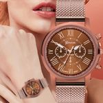 Stainless Steel Dial Casual Geneva Luxury Quartz Watch