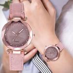 Leather Rhinestone Casual Romantic Starry Sky Wrist Watch