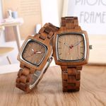 Lovers Couple Unique Walnut Wooden Watches