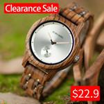 Chronograph Quartz Wrist Wood Watch