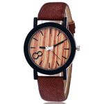 Luxury Casual Leather Band Wooden Watches
