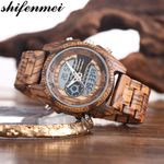 Sport Quartz  Luxury LED Digital  Wood Watch