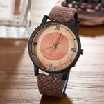 Vintage Leather  Fashion  Wood Retro Casual Watches