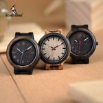 Leather Quartz Wrist Luxury Wooden Watches