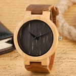 Bangle Bamboo Pattern  Fashion Nature Wood Watches