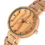 Minimalist Design Brown Quartz  Luxury Wood Watch
