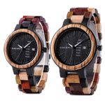 Quartz Week Date Timepiece Wood Watch