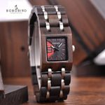 Elegant Square Design Wood Watch