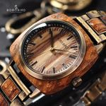 Fashion Wrist Luxury Zebra Wood Watches