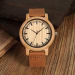 Quartz Wrist Bamboo  Wooden Watch