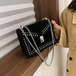 Chain Fashion Rivet Small Shoulder Vintage Leather Handbag
