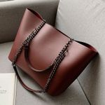 Travel Luxury  PU Leather Shoulder  Chain  Handbags