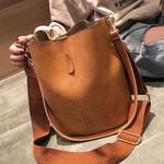 Messenger  Bucket Shoulder  Vintage Matte PU Leather Handbag