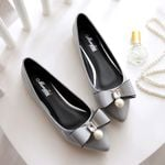 Pearl rhinestone bow-knot loafers  slip on flats Shoes